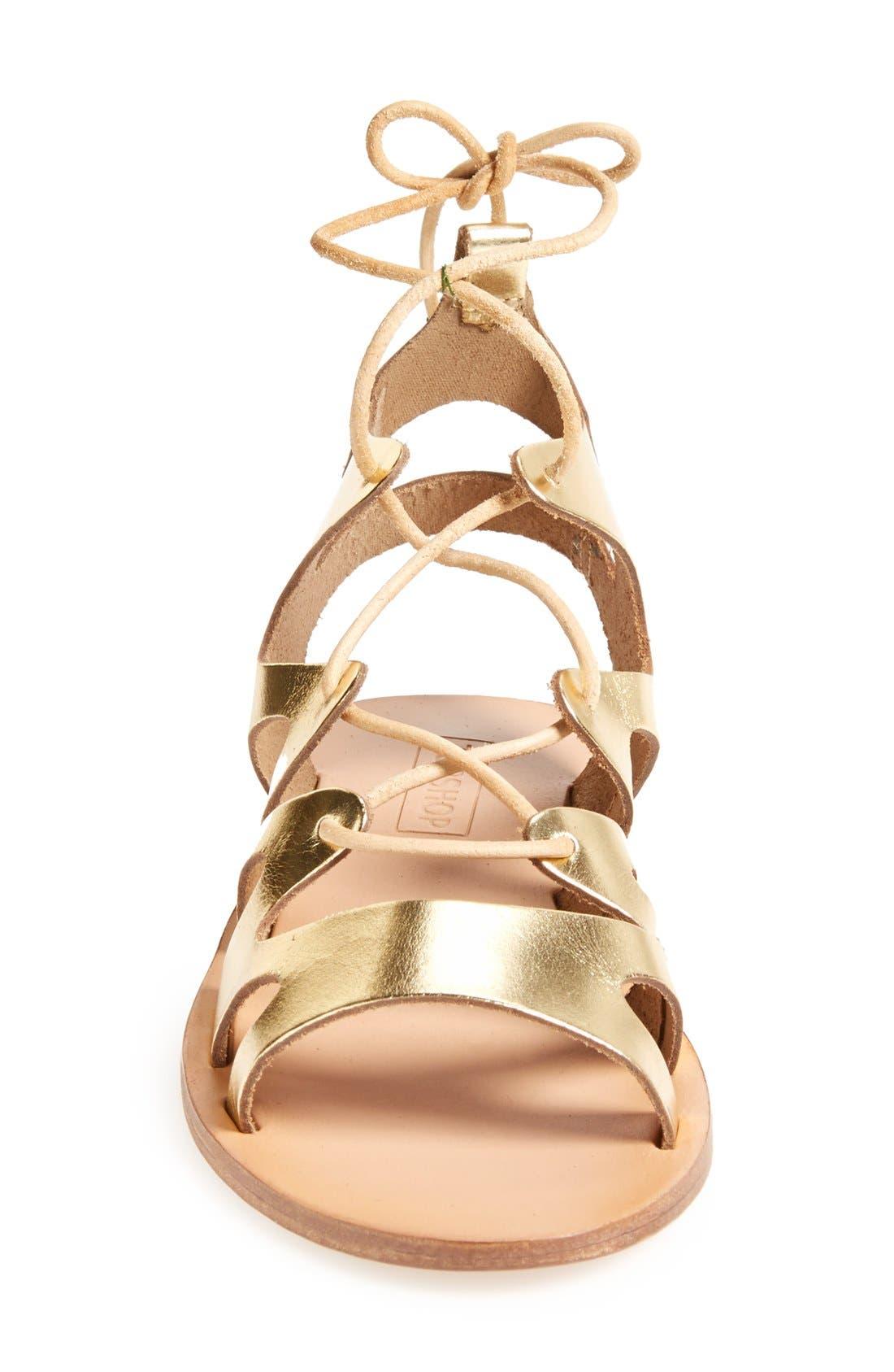 Alternate Image 4  - Topshop 'Fig' Cutout Lace-Up Gladiator Sandal (Women)