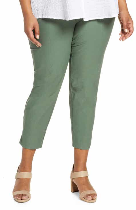 8e68d8401cf Eileen Fisher Slim Washable Stretch Crepe Pants (Plus Size)