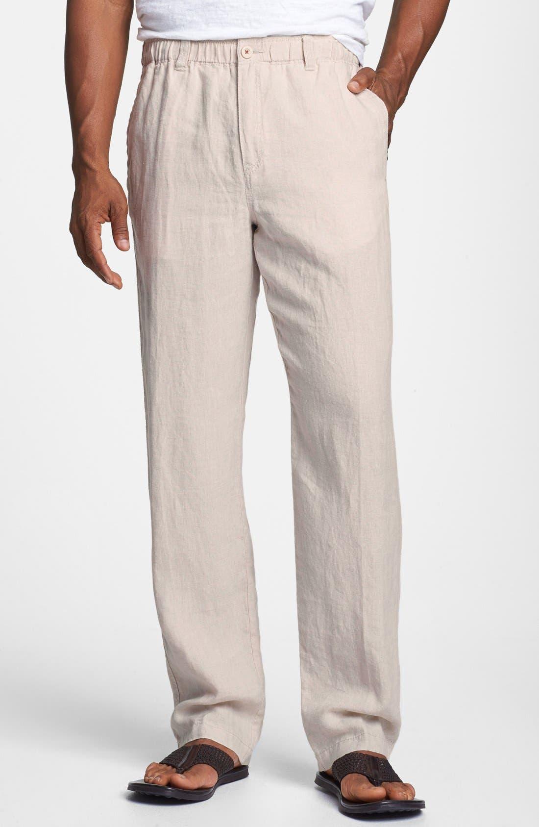 New Linen on the Beach Linen Pants,                         Main,                         color, Natural Linen