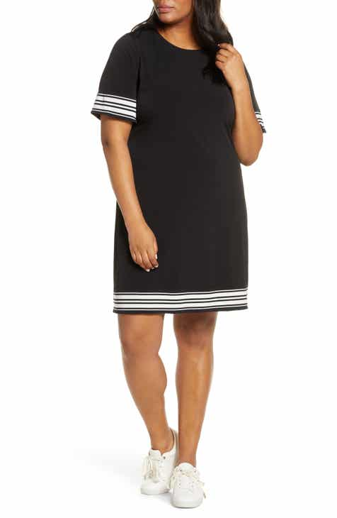 117a9e8fdfd MICHAEL Michael Kors Stripe Border Shift Dress (Plus Size)