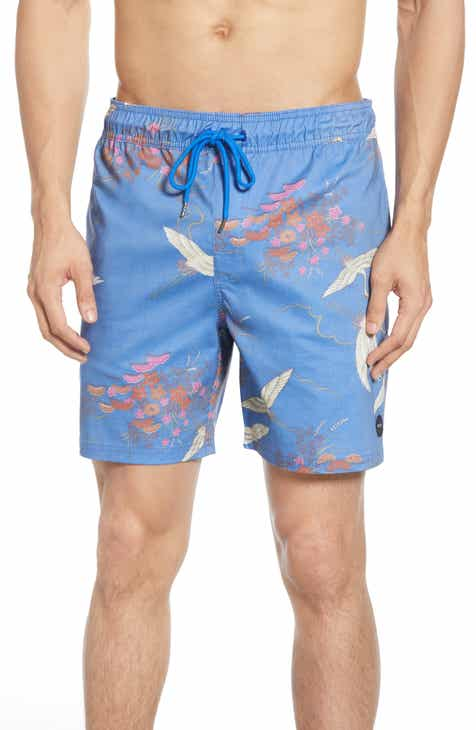 fd3b2061992 RVCA Eclectic Print Swim Trunks
