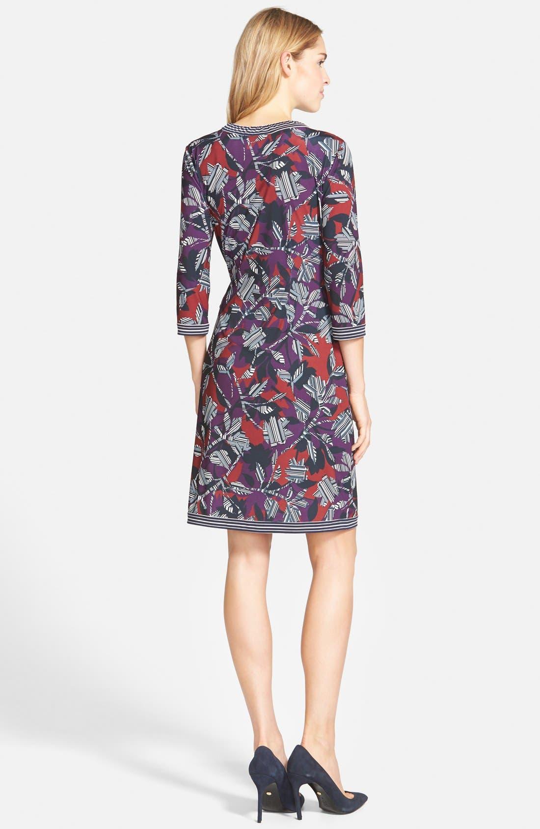 Alternate Image 2  - BCBGMAXAZRIA 'Adele' Print Matte Jersey Wrap Dress