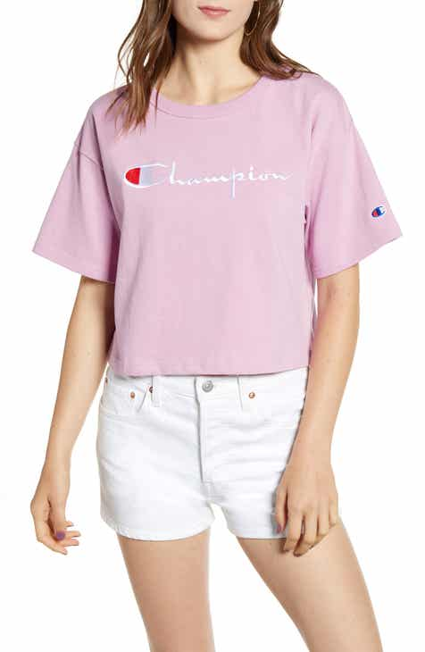 4c731242a520 Champion Satin Stitch Embroidered Logo Tee