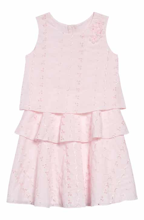 02952f76f7df Frais Tiered Eyelet Embroidered Dress (Toddler Girls, Little Girls & Big  Girls)