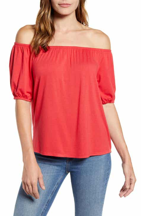 Cheap Gibson X Hot Summer Nights Natalie Off The Shoulder Puff Sleeve Tee (Nordstrom Exclusive) Great Reviews