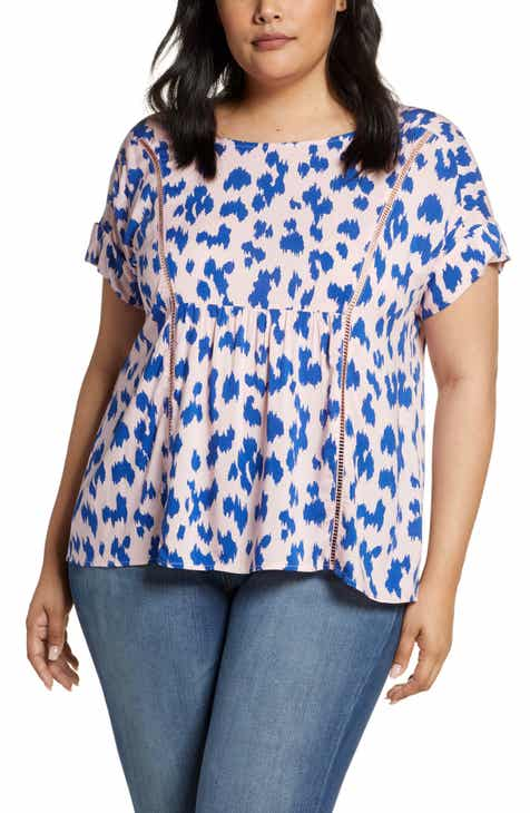 9402a0d4ffc5 Gibson x Hot Summer Nights Two Peas Trimmed Swing Top (Plus Size)  (Nordstrom Exclusive)