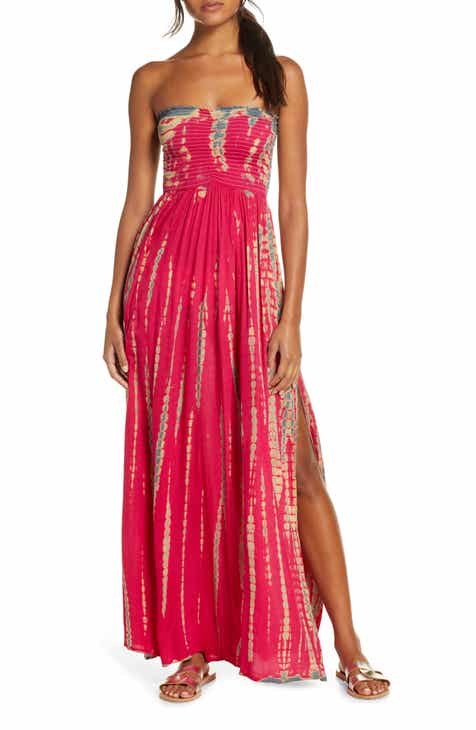 f9ad531a8f Elan Strapless Cover-Up Maxi Dress