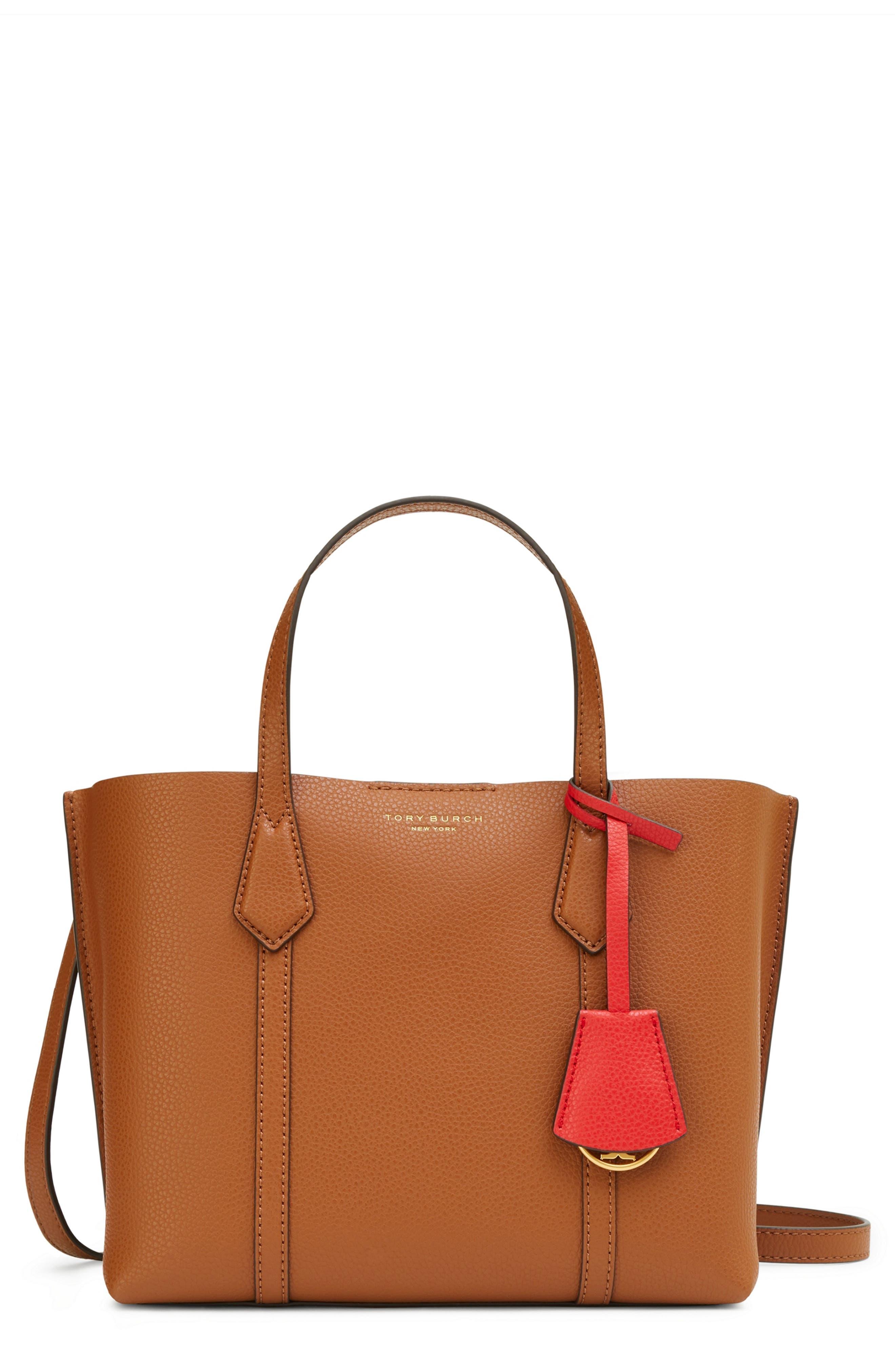Marc By Marc Jacobs Shiny Designer Handbags Shoulder Purse Tote Black Orange M