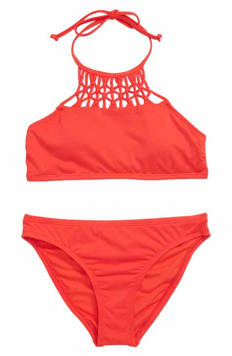 05c9fcd1f33 Hobie High Neck Two-Piece Swimsuit (Big Girls)