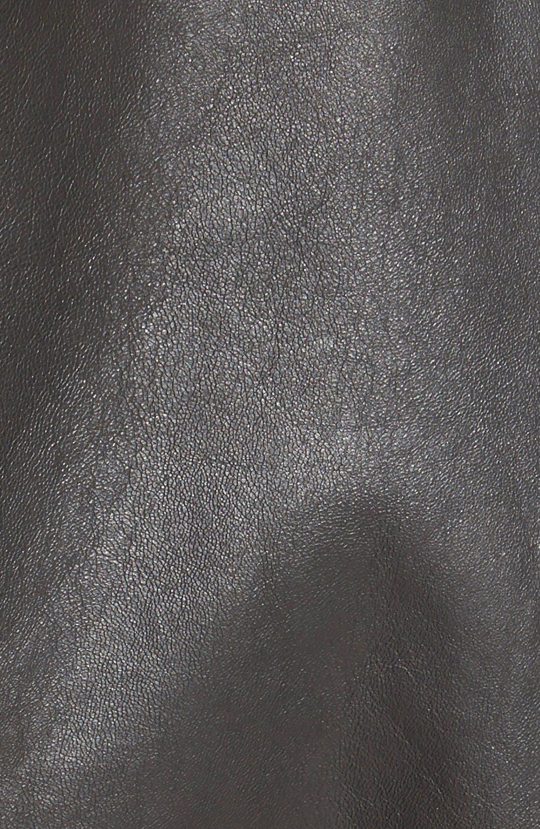 Reversible Suede Jacket,                             Alternate thumbnail 6, color,                             Chocolate