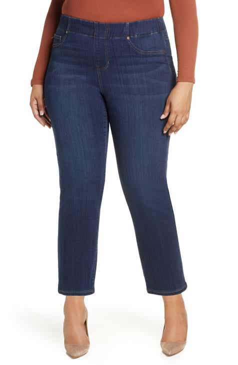 4d7fcecb75703 Liverpool Chloe High Waist Pull-On Ankle Skinny Jeans (Griffith) (Plus Size)