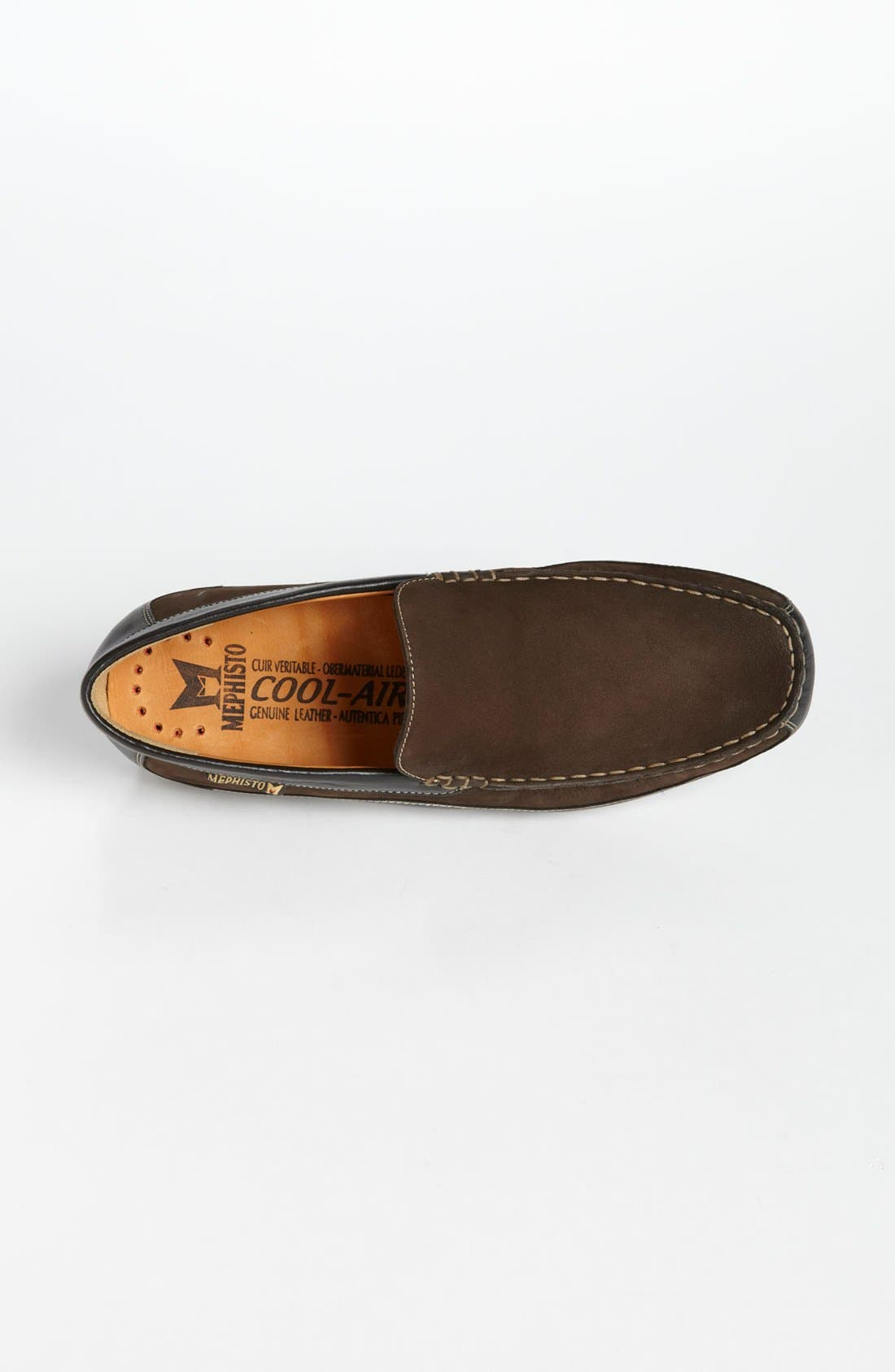 'Baduard' Loafer,                             Alternate thumbnail 3, color,                             Brown Nubuck/ Brown Suede