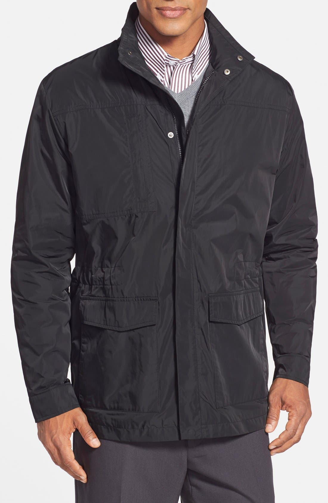 Birch Bay Water Resistant Jacket,                             Main thumbnail 1, color,                             Black
