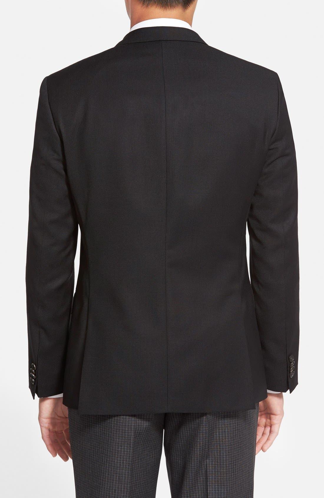 Hutch Trim Fit Wool Blazer,                             Alternate thumbnail 2, color,                             Black