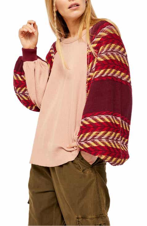 Free People Rainbow Dreams Knit Top Flash Sale