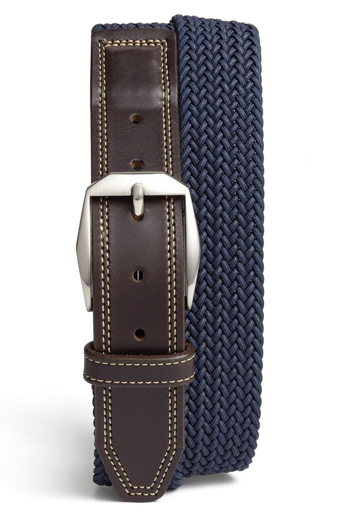 'Beck' Stretch Belt,                         Main,                         color, Navy