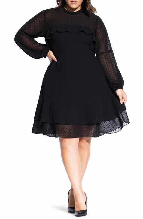 Long Sleeve Plus-Size Dresses | Nordstrom