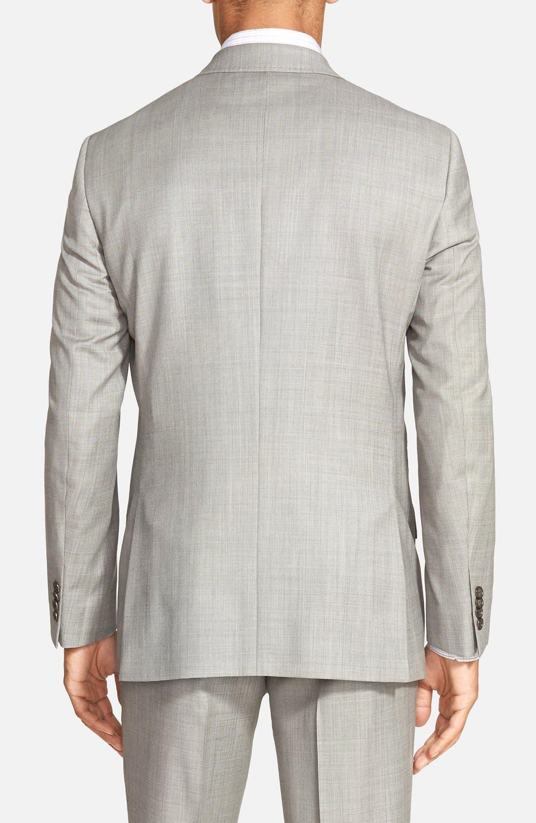 Jones Trim Fit Wool Suit,                             Alternate thumbnail 5, color,                             Medium Grey