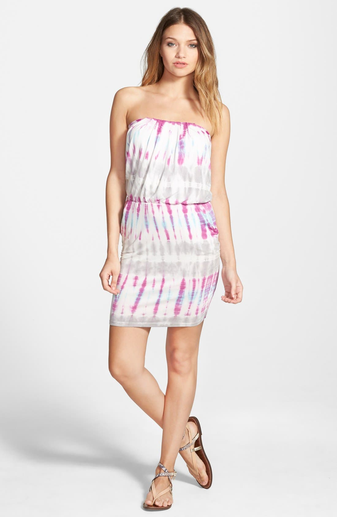 Main Image - Young, Fabulous & Broke 'Freya' Strapless Tie Dye Dress