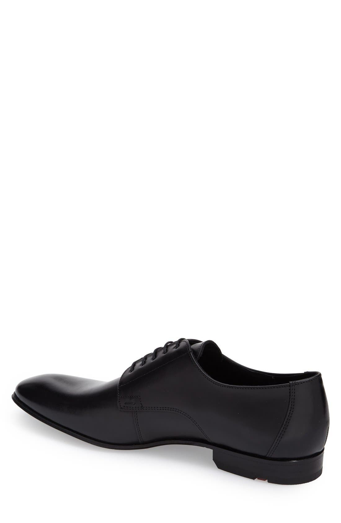 'Laurin' Plain Toe Derby,                             Alternate thumbnail 2, color,                             Black