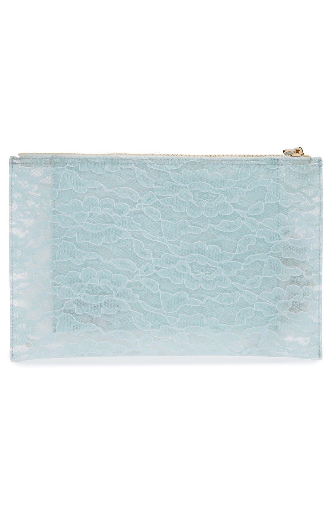 Alternate Image 2  - Deux Lux 'Amour' Transparent Lace Jelly Pouch