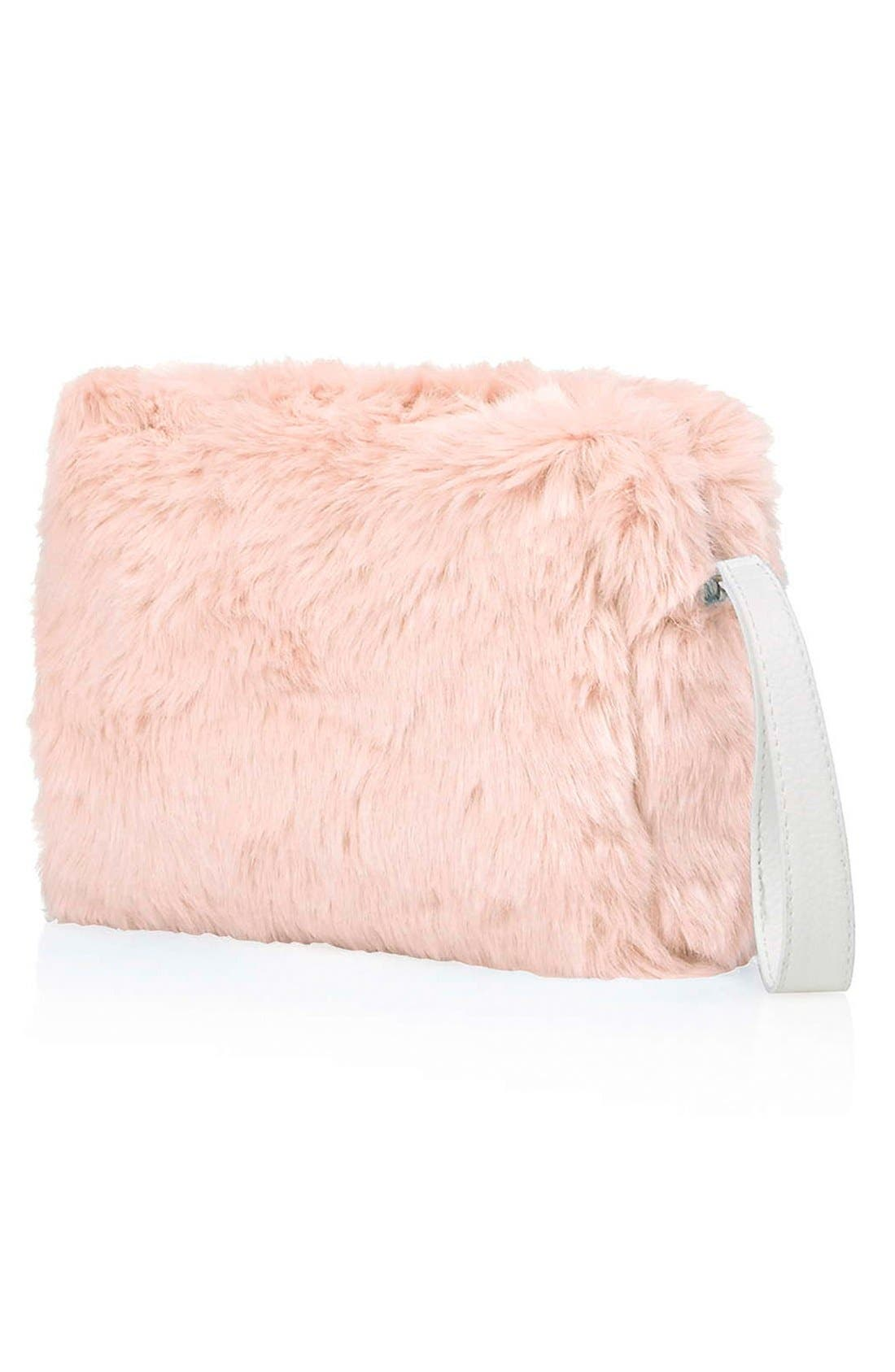 Alternate Image 3  - Topshop Faux Fur Clutch