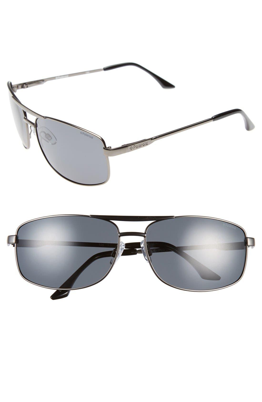 Main Image - Polaroid '2017S' 65mm Polarized Navigator Sunglasses