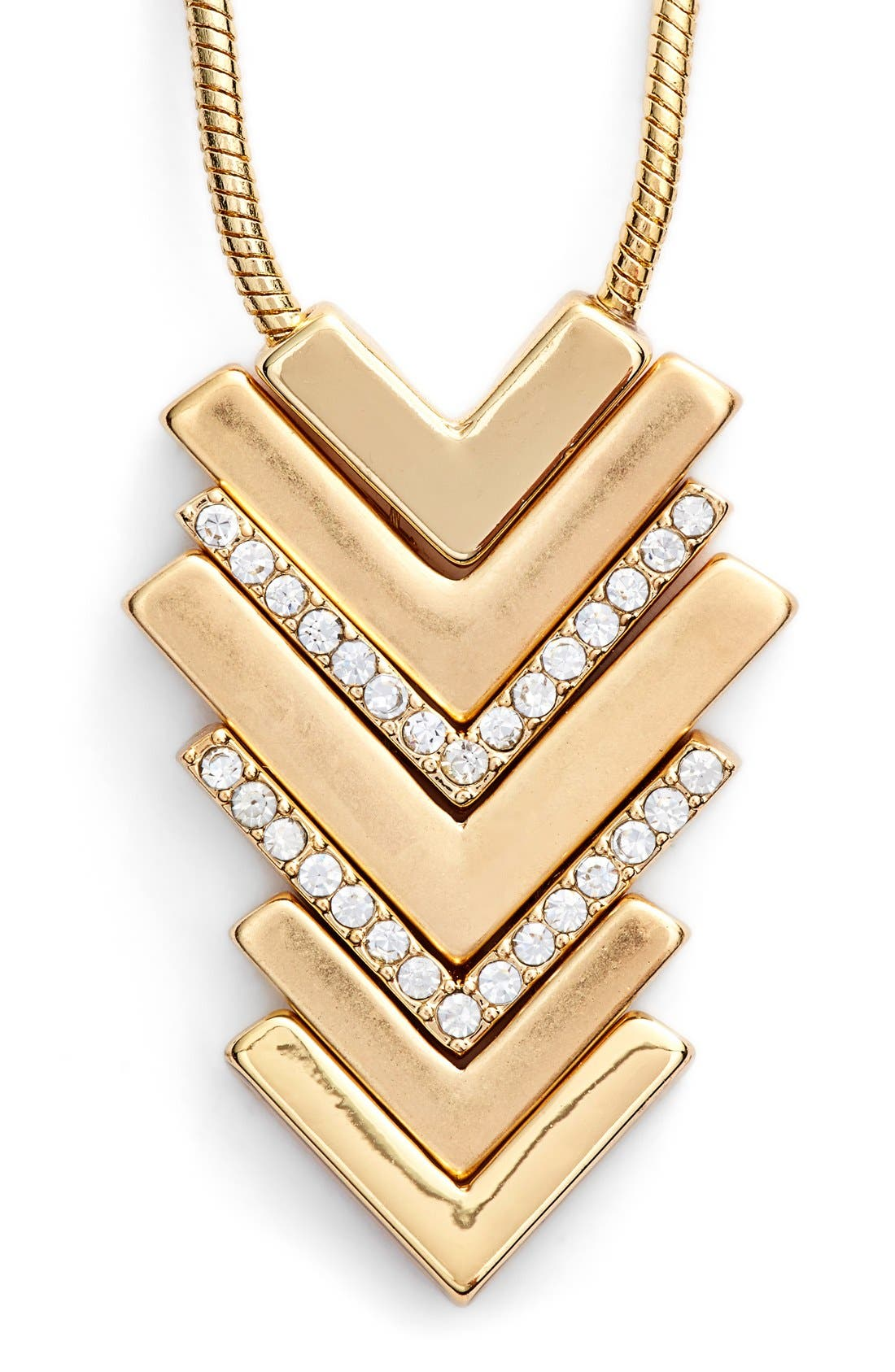 Alternate Image 1 Selected - Lonna & Lilly Chevron Pendant Necklace