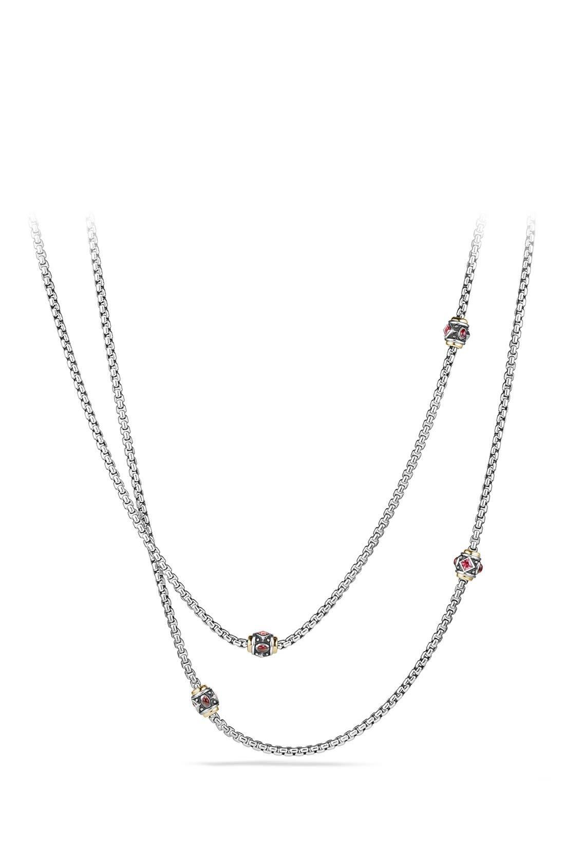 David Yurman 'Renaissance' Necklace with Semiprecious Stone and 18k Gold