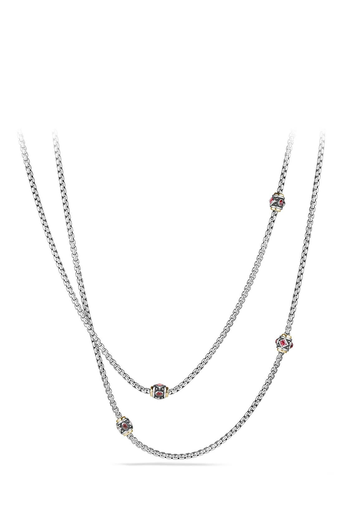 David Yurman 'Renaissance' Necklace with Semiprecious Stone and 18k Gold