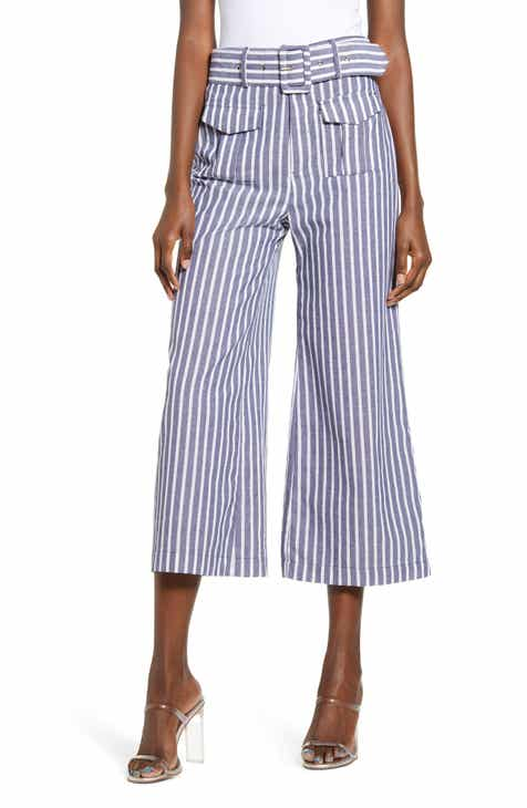 English Factory Crop Wide Leg Trousers
