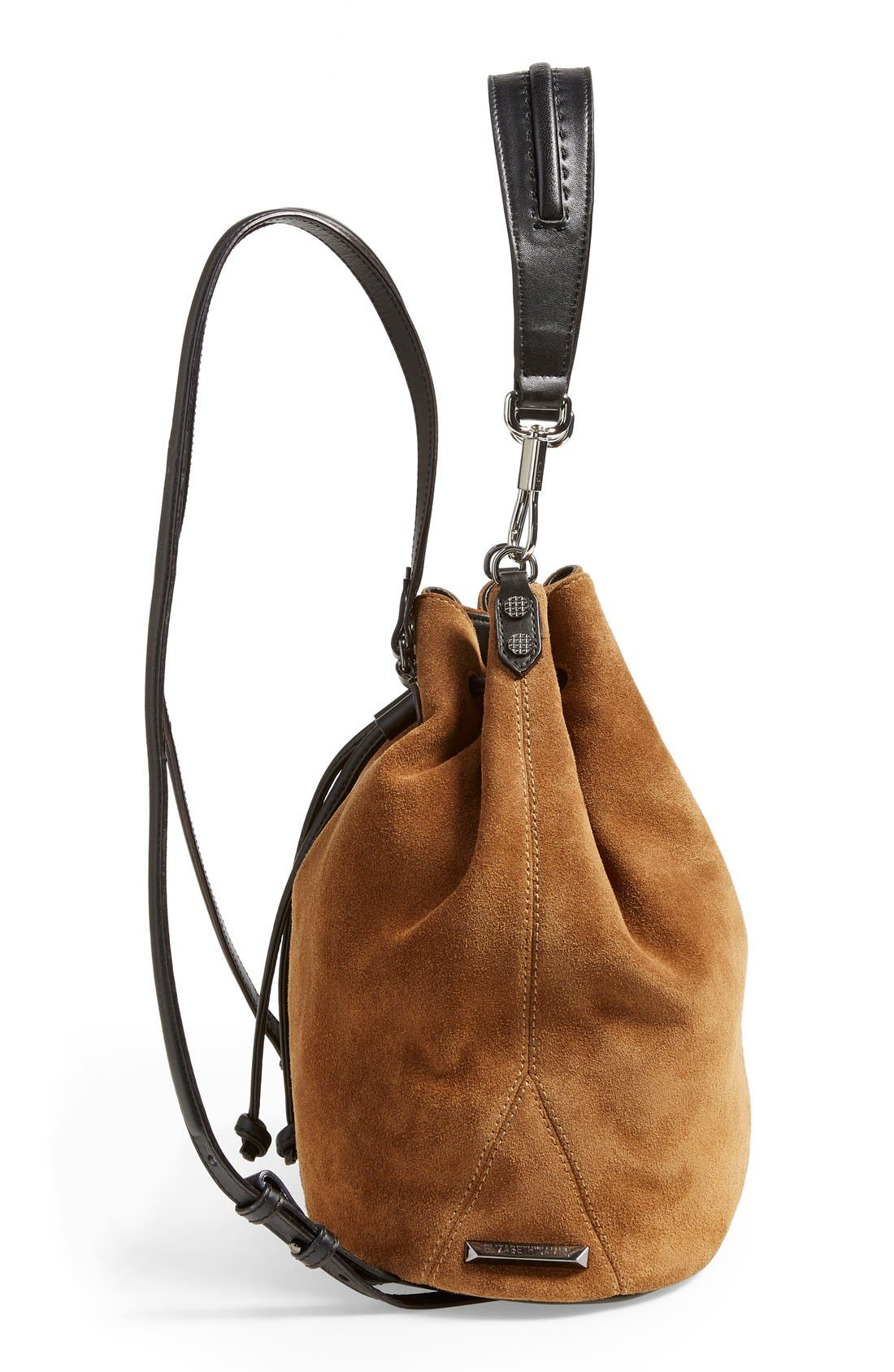 Alternate Image 5  - Elizabeth and James 'Cynnie' Suede Sling Backpack