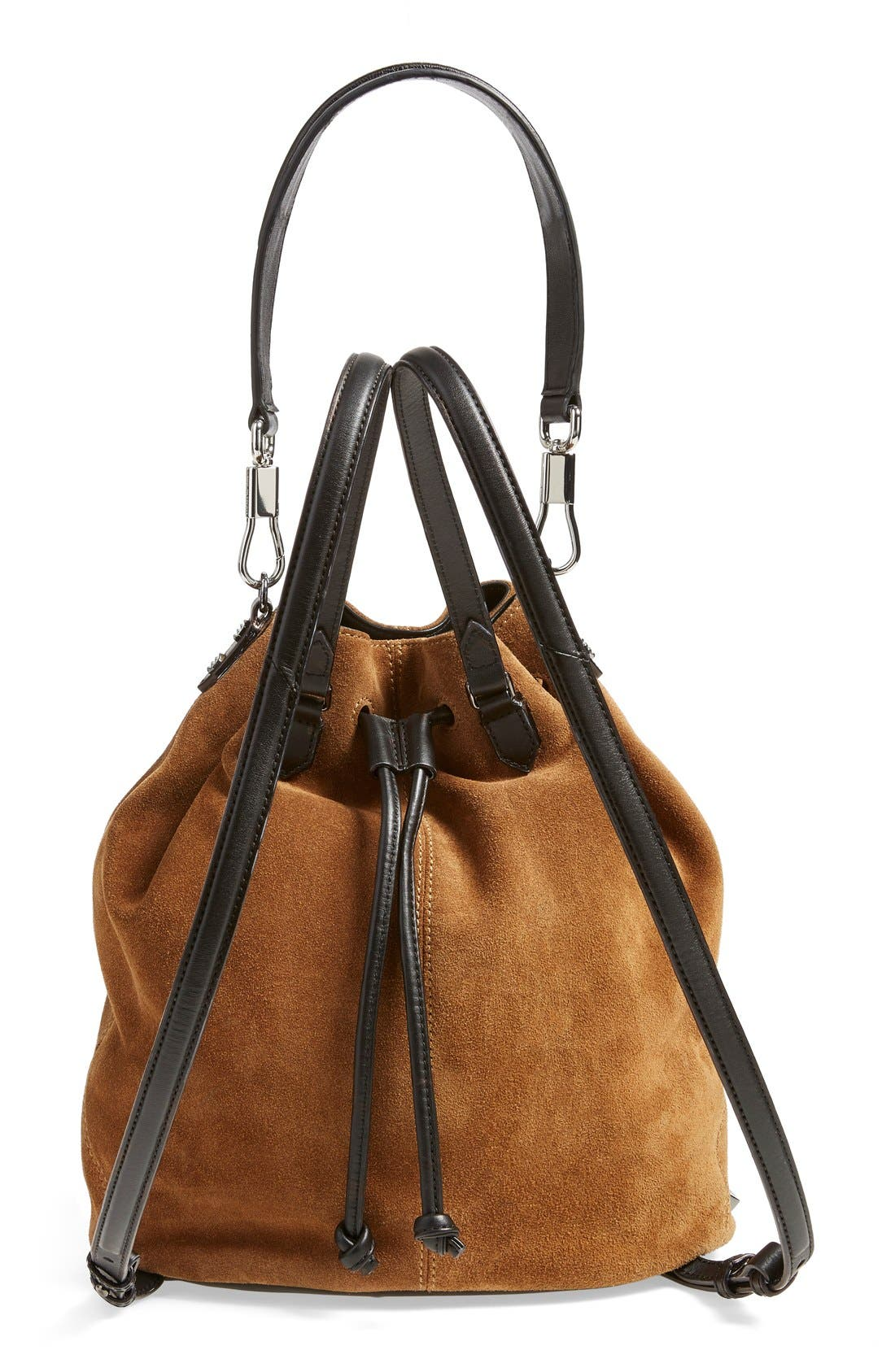 Alternate Image 3  - Elizabeth and James 'Cynnie' Suede Sling Backpack