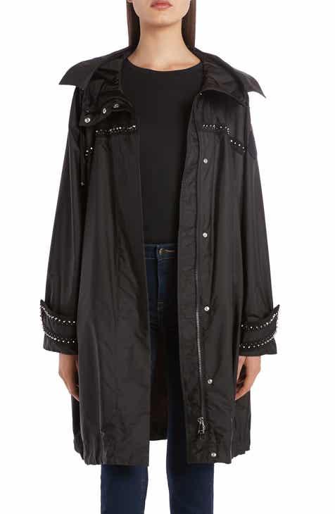 Moncler Prasin Studded Water Resistant Longline Coat