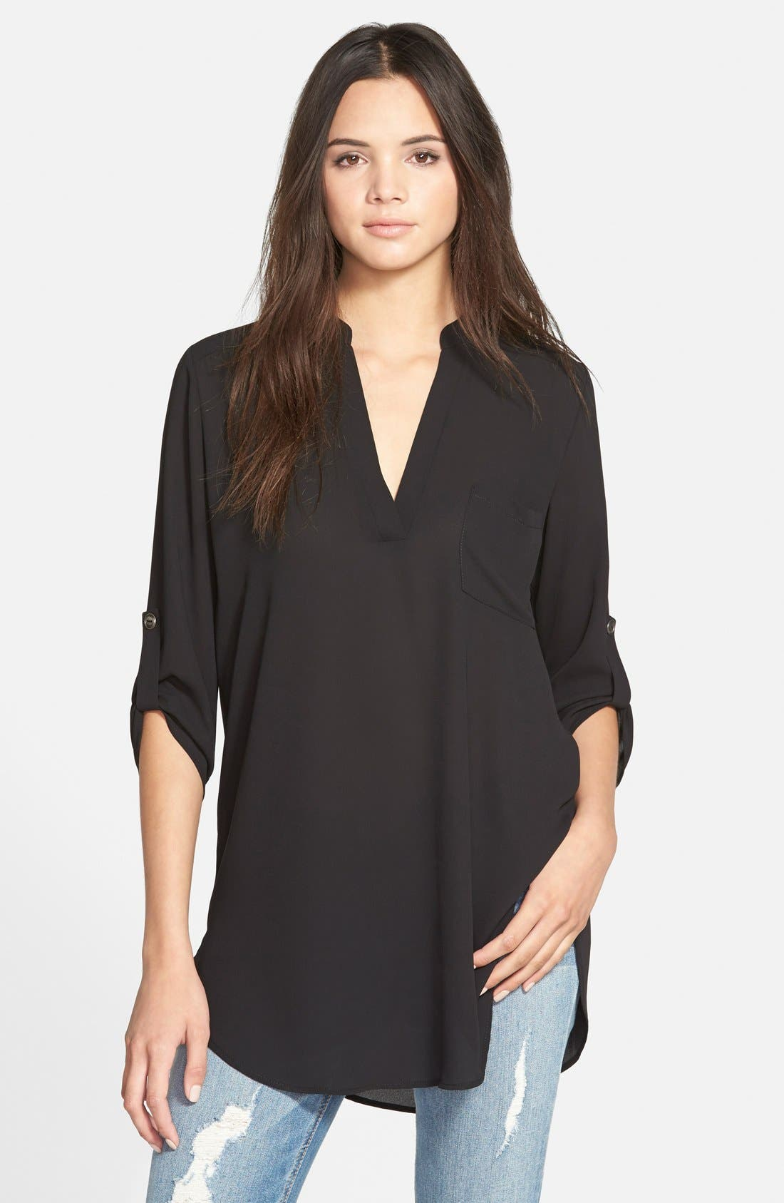 Main Image - Lush Perfect Roll Tab Sleeve Tunic