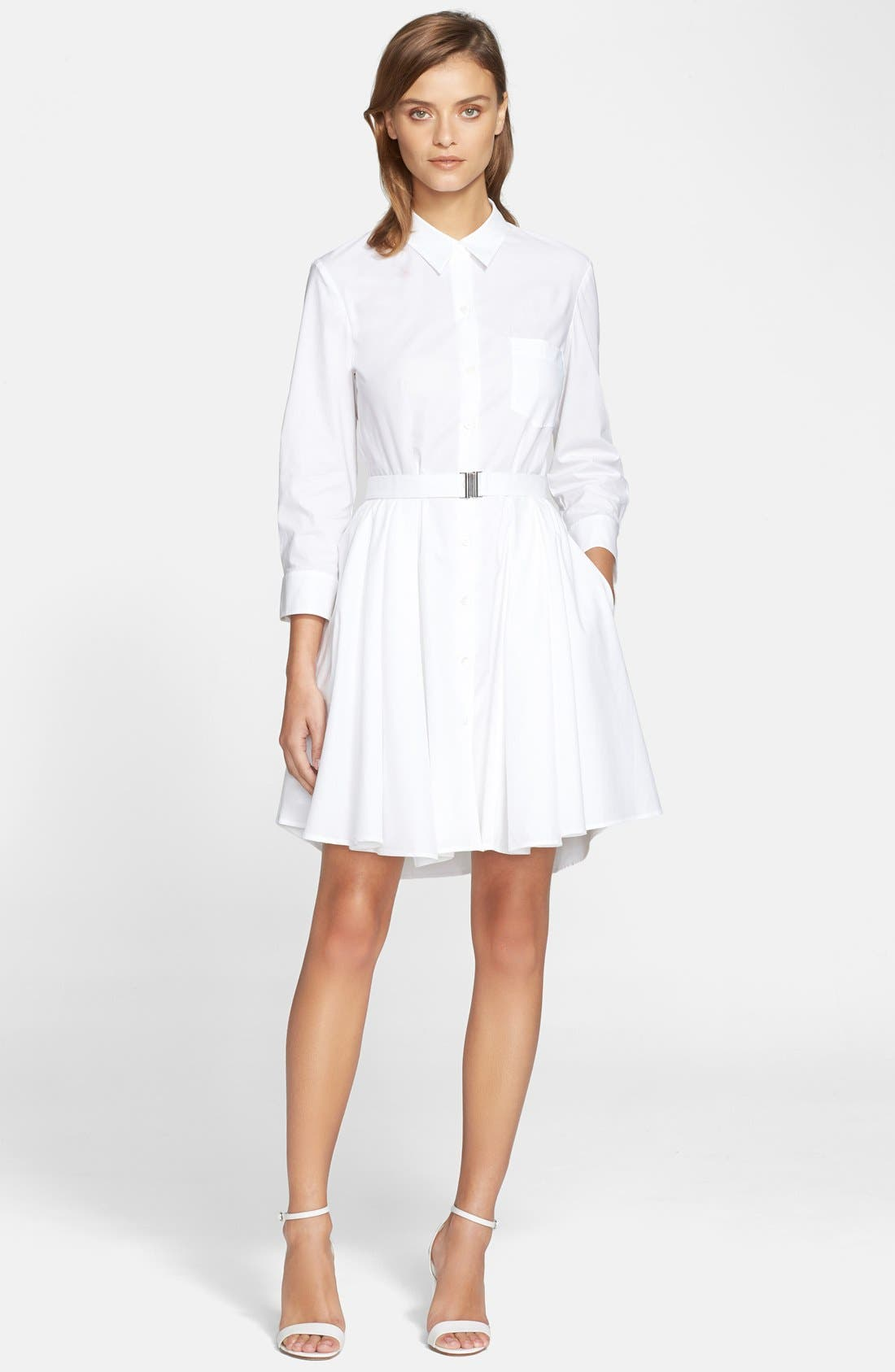 Alternate Image 1 Selected - Theory 'Jalyis' Stretch Poplin Shirtdress