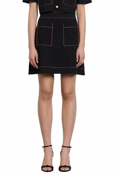 sandro Elanna Knit Miniskirt