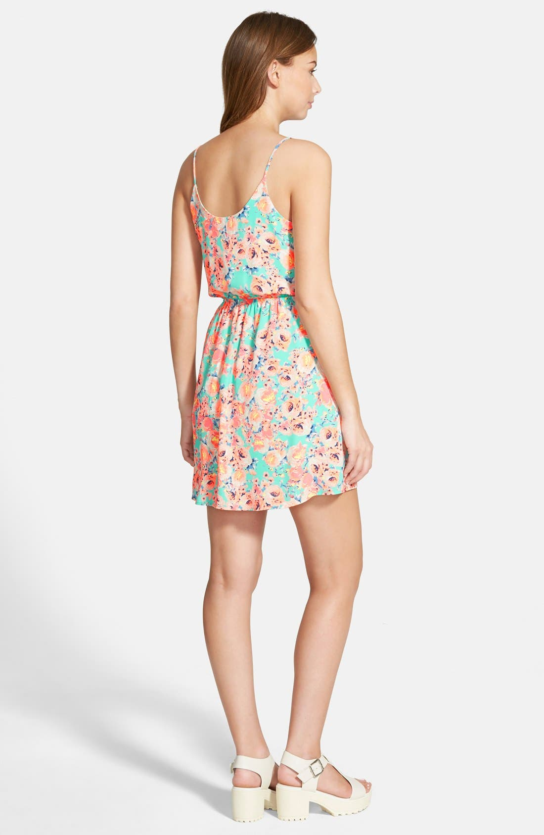 Alternate Image 2  - Lush 'Katherine' Tulip Hem Skater Dress