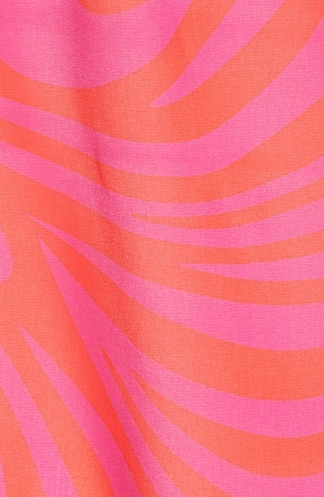 'Cynthia Paisley' Sleeveless Pleat Front Top,                             Alternate thumbnail 3, color,                             Radiant Pink