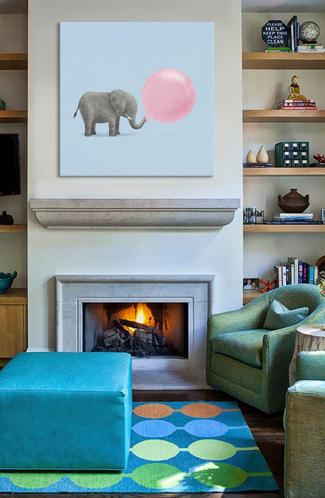 Alternate Image 2  - iCanvas 'Jumbo Bubble Gum Blue Square - Terry Fan' Giclée Print Canvas Art