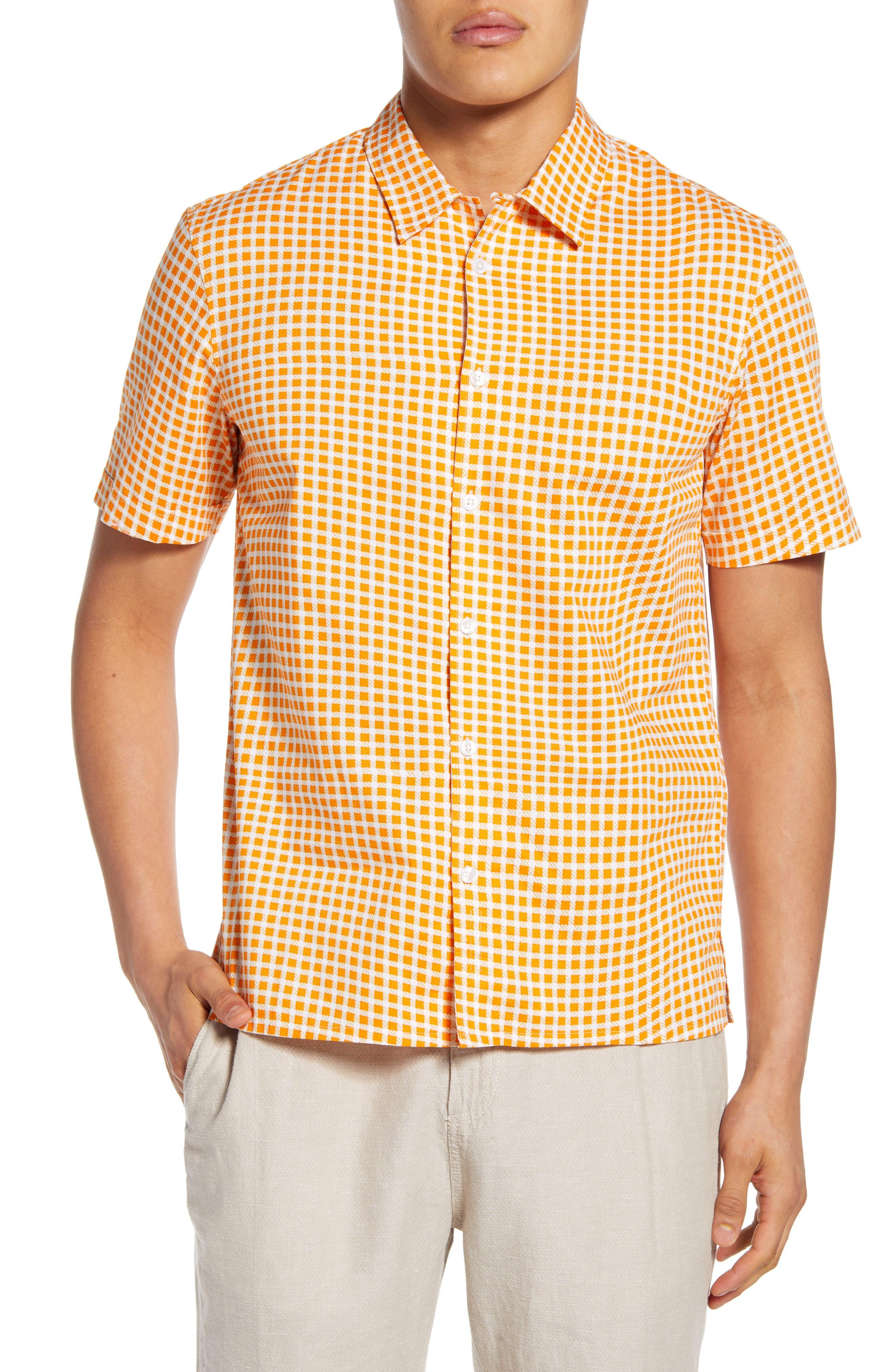 YUNY Men Turn-Down Collar Long-Sleeve Button Print Thicken T-Shirts Shirts AS24 XL