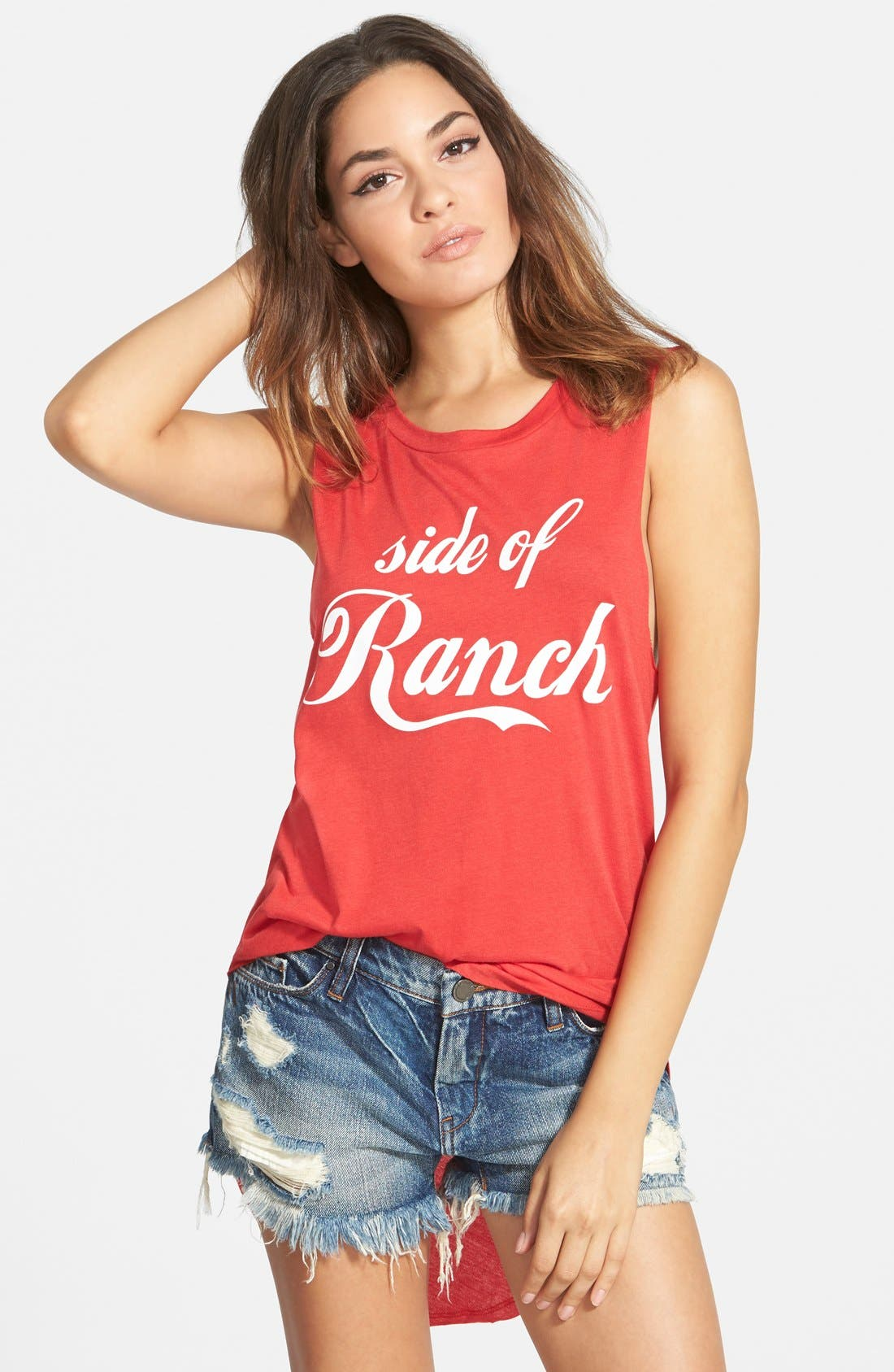 Alternate Image 1 Selected - Madison & Berkeley 'Side of Ranch' Shirttail Tank