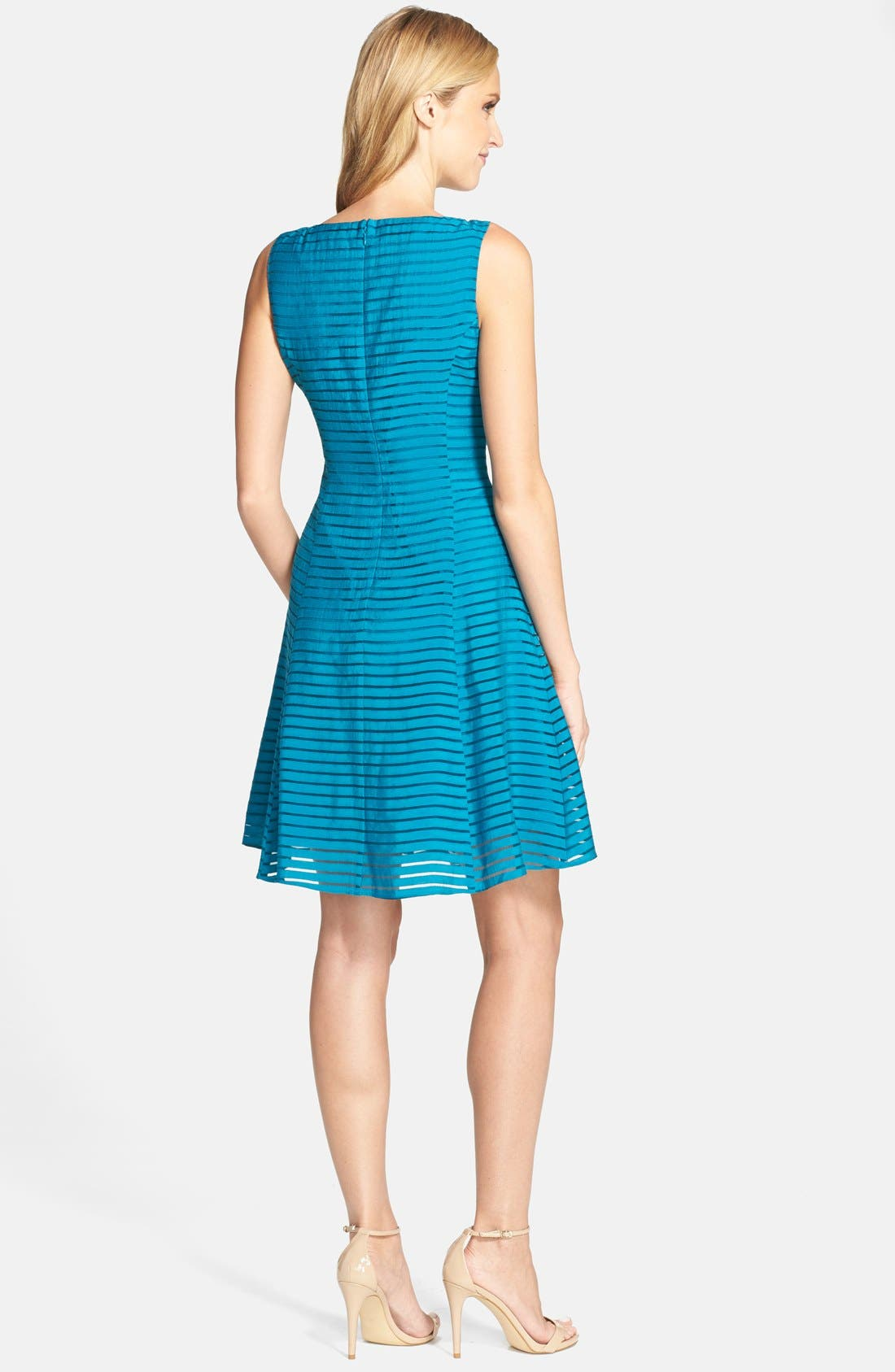 Alternate Image 2  - Adrianna Papell Ribbon Stripe Fit & Flare Dress