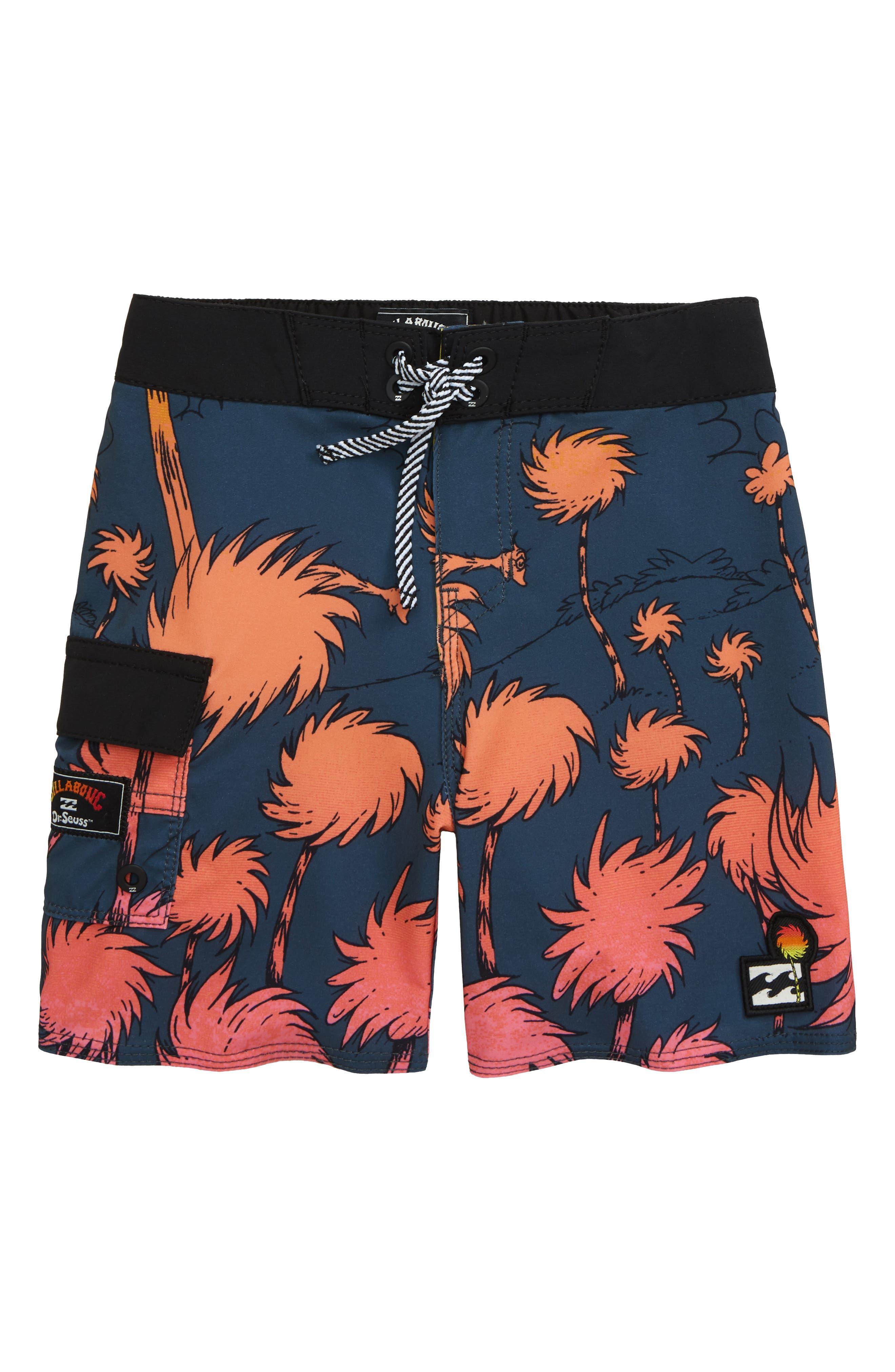 Kidhome Teenagers Boys Beach Board Shorts Sea Turtle Summer Drawstring Beach Shorts Swim Trunks with Pockets for Teen Boys