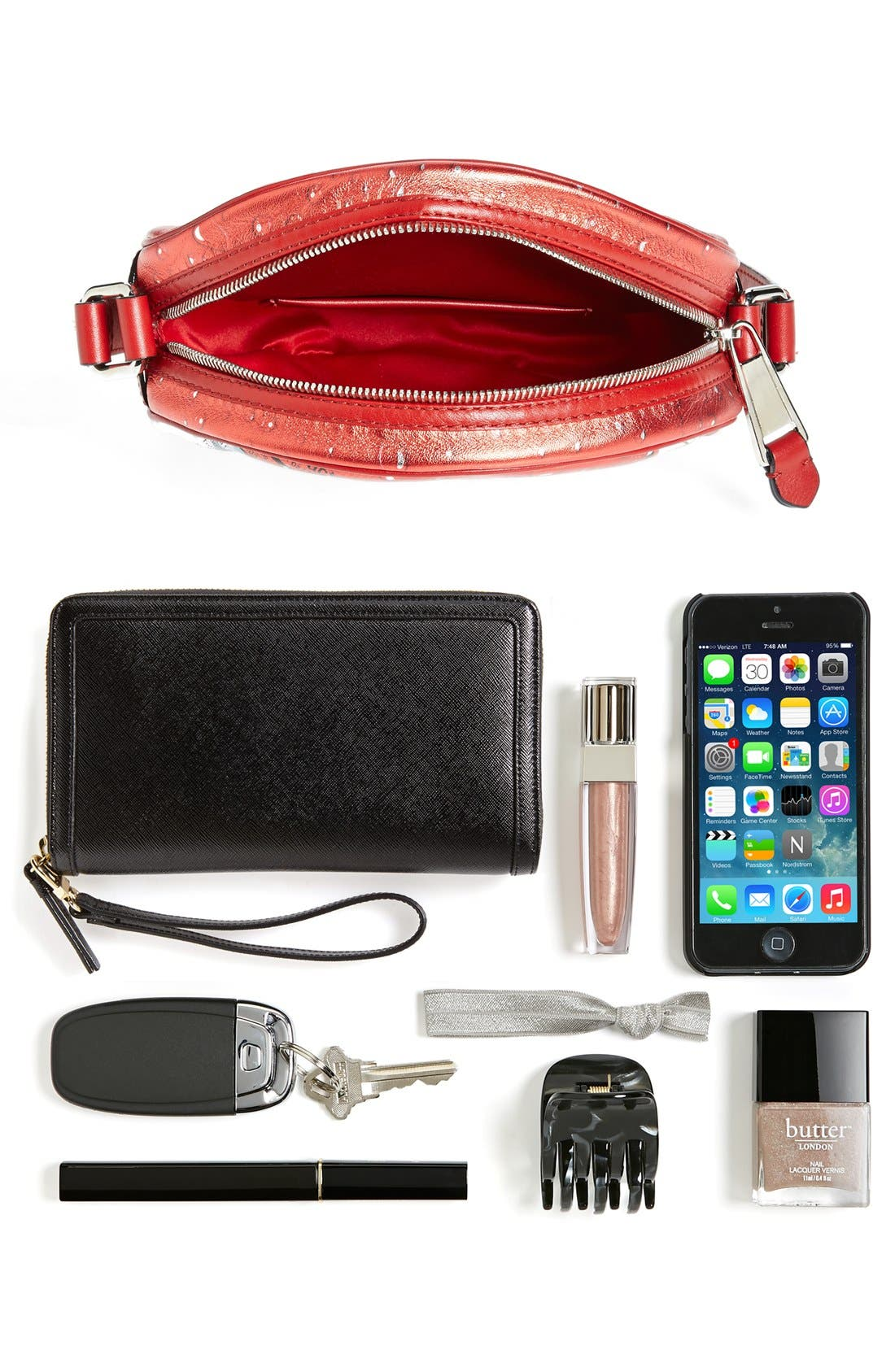 Alternate Image 7  - Moschino 'Drink Moschino' Laminated Leather Crossbody Bag