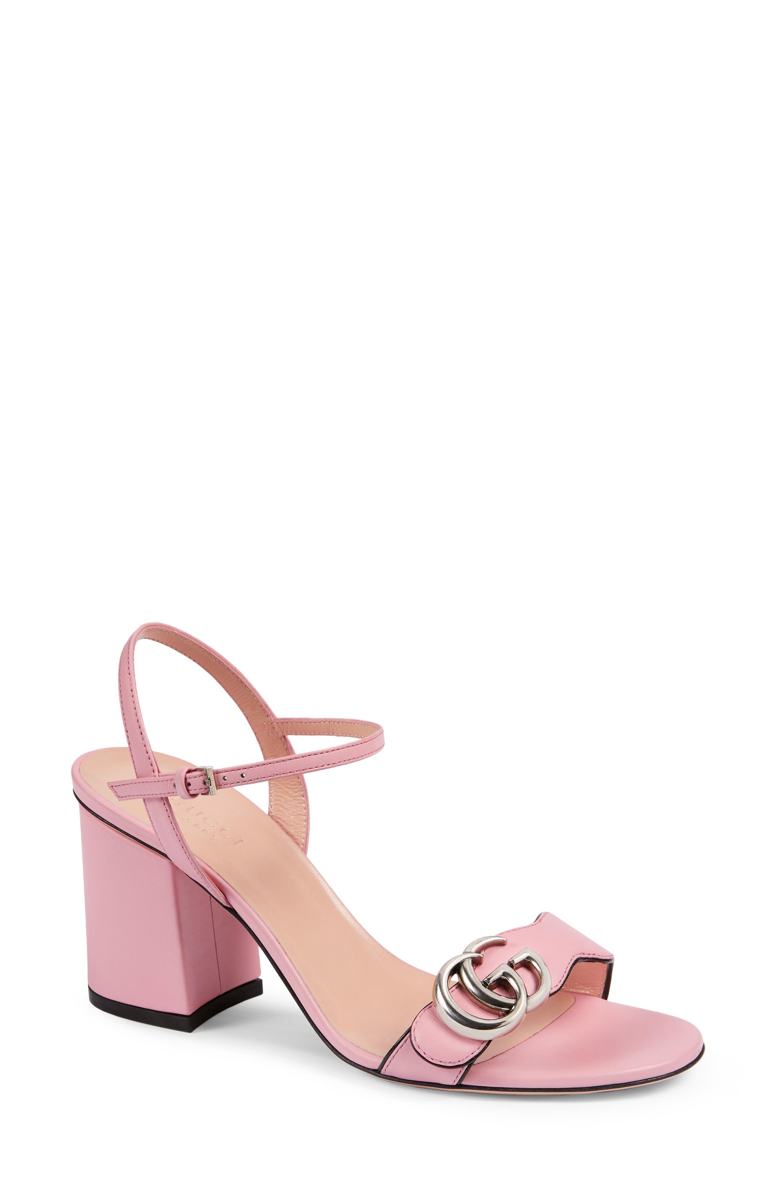 gucci pink shoes heels