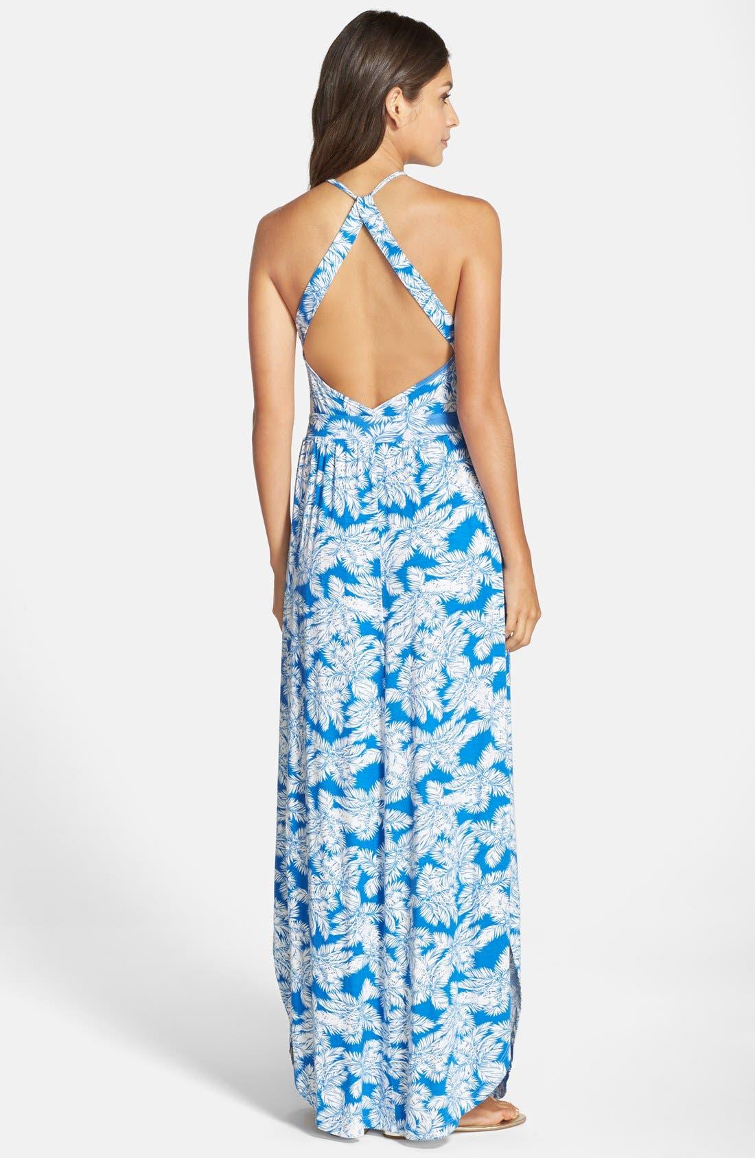 Alternate Image 2  - Fraiche by J Open Back Maxi Dress