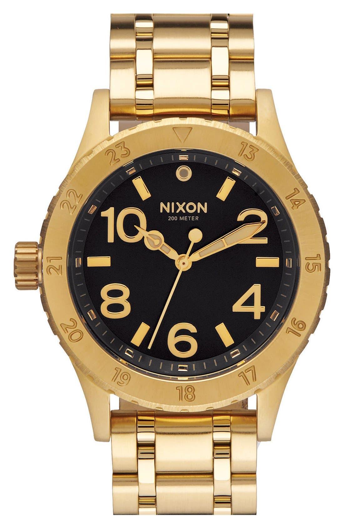 'The 38-20' Bracelet Watch, 38mm,                         Main,                         color, Gold/ Black