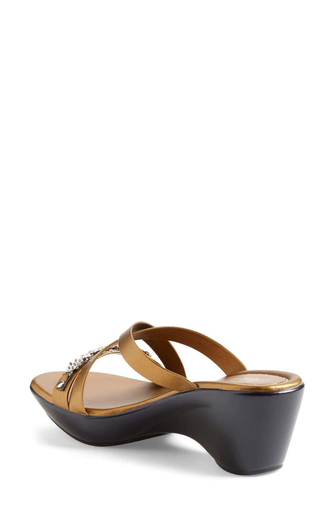 Alternate Image 2  - Athena Alexander 'Tangie' Crystal Embellished Wedge Sandal (Women)