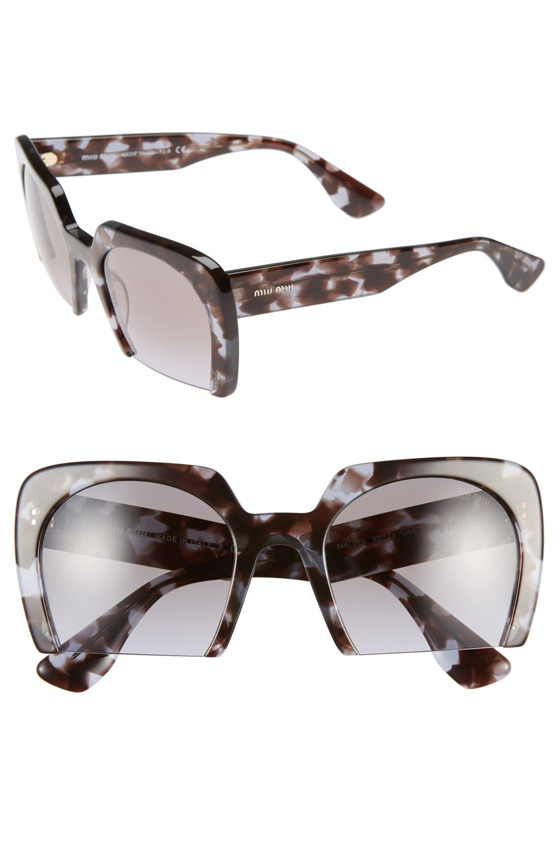 Alternate Image 1 Selected - Miu Miu 53mm Sunglasses